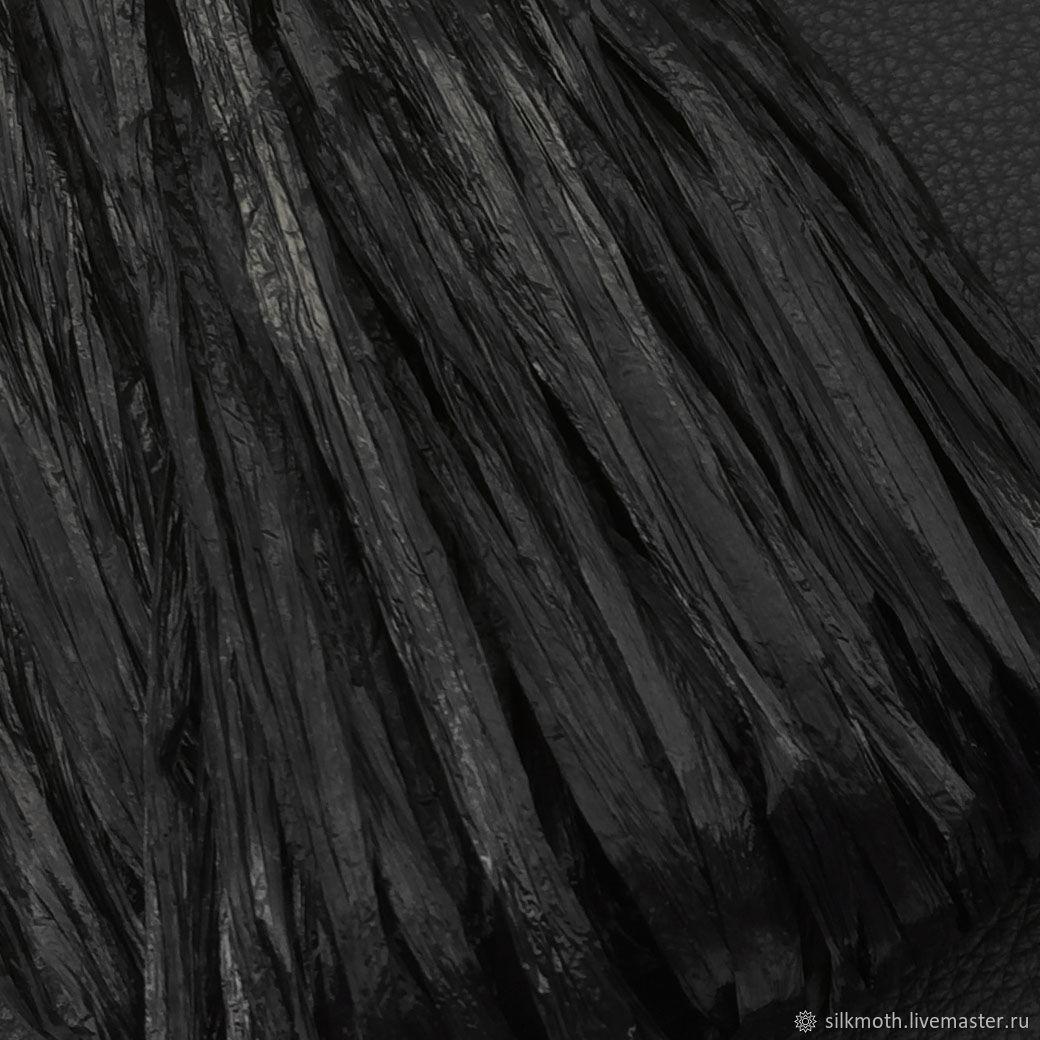 Рафия, 1м, Италия, черный, Нитки, Москва,  Фото №1