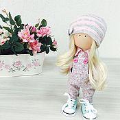 Куклы и игрушки ручной работы. Ярмарка Мастеров - ручная работа Мими в цветочном комбинезоне. Handmade.