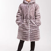 Работы для детей, handmade. Livemaster - original item Grey Mouton coat for girl. Handmade.