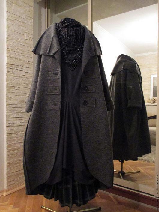 Верхняя одежда ручной работы. Ярмарка Мастеров - ручная работа. Купить пальто СЕРОЕ БОХО. Handmade. Темно-серый
