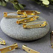 Материалы для творчества ручной работы. Ярмарка Мастеров - ручная работа Булавки для брошей 30 мм По 10 штук Золото. Handmade.