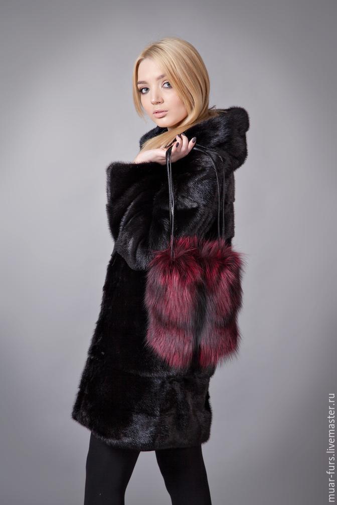 Handbag made of Fox fur. fur bag, Classic Bag, Kirov,  Фото №1