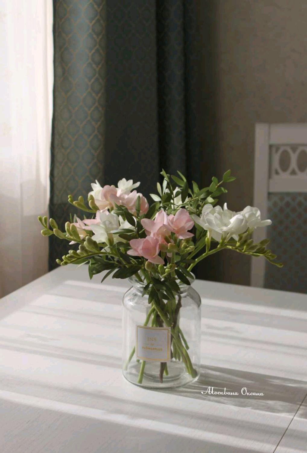Искусственные цветы. Фрезия и фисташка, Букеты, Владимир,  Фото №1