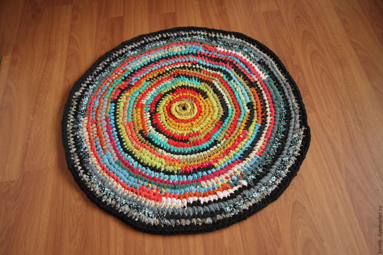 текстильный вязаный коврик северное солнце вязаные коврики