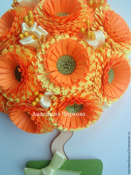 """Магниты ручной работы. Ярмарка Мастеров - ручная работа. Купить Магнит-топиарий """"Весенний"""". Handmade. Рыжий, подарок, весна, осень"""