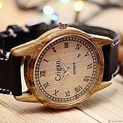 Украшения handmade. Livemaster - original item Wooden watches, men`s watches, oak, 06RD4035OO. Handmade.