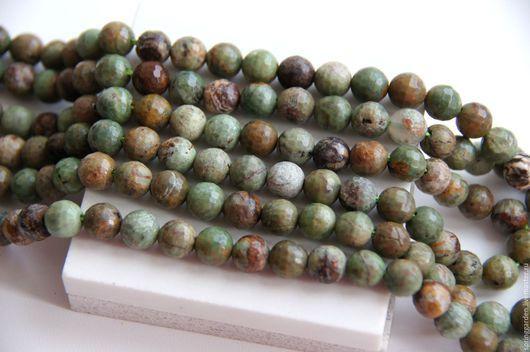 Для украшений ручной работы. Ярмарка Мастеров - ручная работа. Купить Опал Зеленый ДИКИЙ граненые  бусины 8 мм. Handmade.