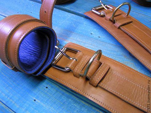 Спортивная одежда ручной работы. Ярмарка Мастеров - ручная работа. Купить ремни для занятий на тренажёрах МТБ. Handmade. Разноцветный