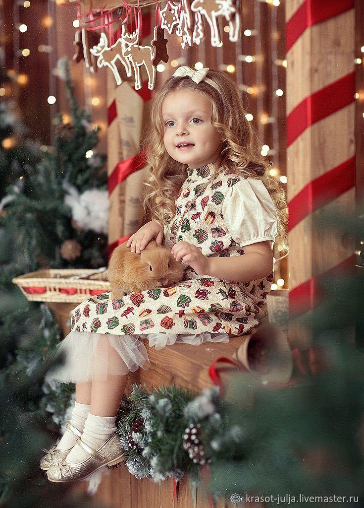 Новый год, Платье хлопковое , детское,  Рождество , подарок, ретро, Платья, Санкт-Петербург,  Фото №1