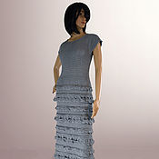 Одежда handmade. Livemaster - original item Long evening dress Helen. Hook, cotton. Handmade.