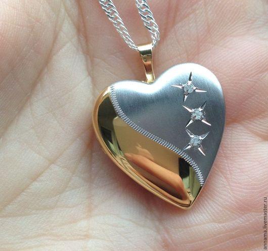 Для украшений ручной работы. Ярмарка Мастеров - ручная работа. Купить Медальон Любовный эликсир серебро 925 в позолоте. Handmade.
