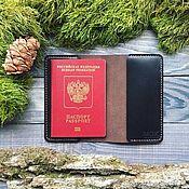 handmade. Livemaster - original item Passport cover: Cover leather passport Skin. Handmade.