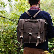 Brief case handmade. Livemaster - original item Backpack briefcase leather NEVADA. Handmade.