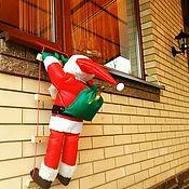 Мягкие игрушки ручной работы. Ярмарка Мастеров - ручная работа Дед мороз (Санта) на лесенке. Средний. Handmade.
