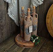"""Для дома и интерьера ручной работы. Ярмарка Мастеров - ручная работа """"Легенда Сардинии"""" Набор для для вина или масла. Handmade."""