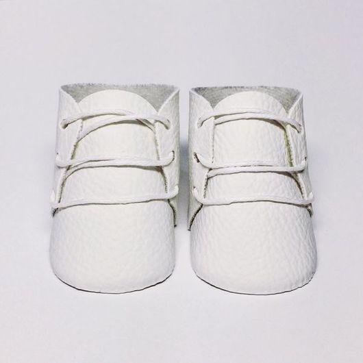 """Куклы и игрушки ручной работы. Ярмарка Мастеров - ручная работа. Купить Ботиночки для кукол """"Белые"""" 5,5 см. Handmade."""