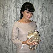 """Одежда ручной работы. Ярмарка Мастеров - ручная работа Войлочное платье ручной работы """"Powdered sugar"""". Handmade."""
