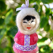 Куклы и игрушки ручной работы. Ярмарка Мастеров - ручная работа игрушка елочная Якутяночка. Handmade.