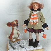 Куклы и игрушки ручной работы. Ярмарка Мастеров - ручная работа На прогулке. Handmade.