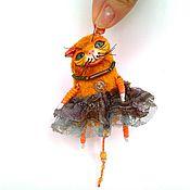 Куклы и игрушки ручной работы. Ярмарка Мастеров - ручная работа Рыжая кошка.. Handmade.