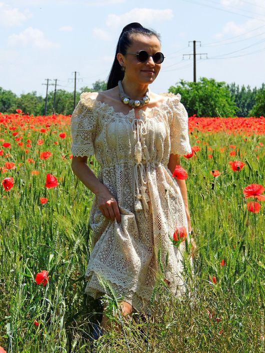 платье бохо, стиль бохо, летнее бохо платье, купить платье бохо, платье из льна