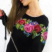 """Одежда ручной работы. Ярмарка Мастеров - ручная работа Джемпер с вышивкой""""Любимые розы"""".. Handmade."""