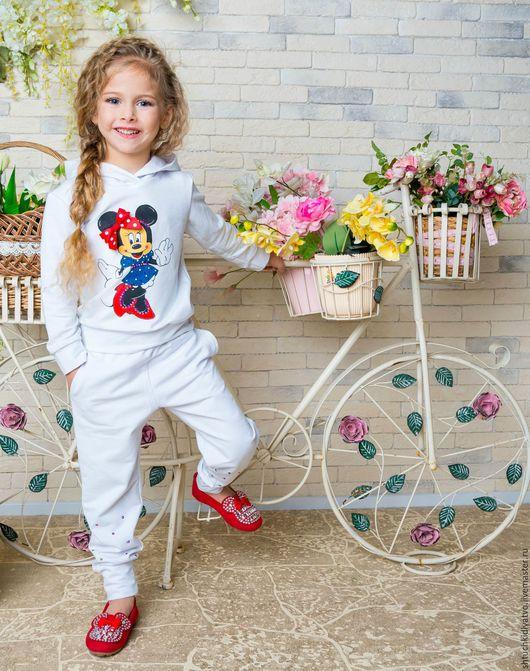 """Одежда для девочек, ручной работы. Ярмарка Мастеров - ручная работа. Купить Белый костюм """"Минни Маус"""". Handmade. Комбинированный, одежда"""