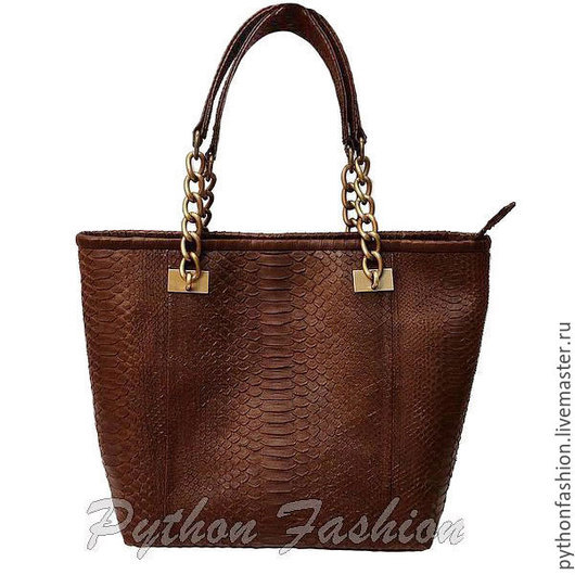 Сумка из питона. Дизайнерская сумка из питона. Модная женская сумка из кожи питона. Оригинальная коричневая сумка из питона. Красивая сумка ручной работы на весну. Стильная питоновая сумка на заказ.