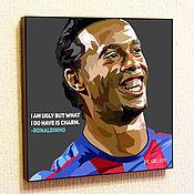 Картины и панно handmade. Livemaster - original item Painting poster Ronaldinho Pop Art. Handmade.