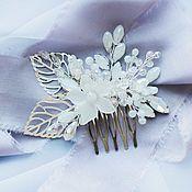 Свадебный салон ручной работы. Ярмарка Мастеров - ручная работа Гребень в  цвете serenity. Handmade.