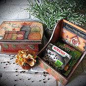 """Для дома и интерьера ручной работы. Ярмарка Мастеров - ручная работа """"bitter herbs"""" Короба для хранения специй/чая/сладостей. Handmade."""