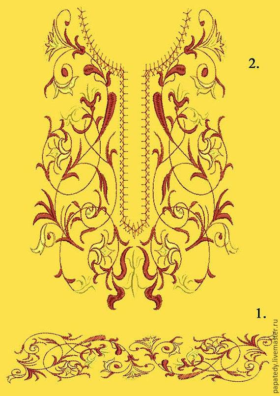 Орнаменты дизайны вышивки