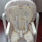 Для дома и интерьера ручной работы. Ярмарка Мастеров - ручная работа Чехол и вкладыш на стул для кормления. Handmade.