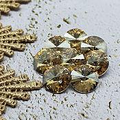 Материалы для творчества handmade. Livemaster - original item Glass rhinestones 12 mm Rivoli Champagne. Handmade.