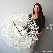 """Для дома и интерьера handmade. Livemaster - original item Настенные часы """"Френсис"""" из металла 90 см. Handmade."""