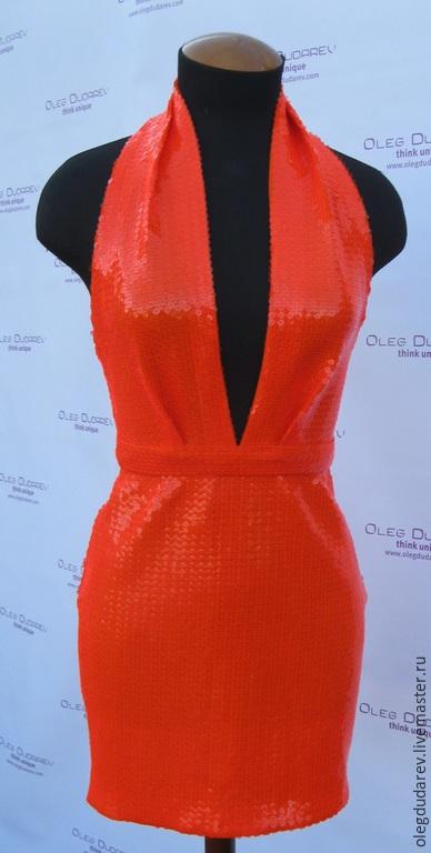 """Платья ручной работы. Ярмарка Мастеров - ручная работа. Купить Платье """"Голливуд"""". Handmade. Оранжевый, платье на выпускной, пошив платья"""