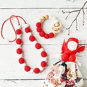 Одежда handmade. Livemaster - original item Set teether and nursing necklace, called