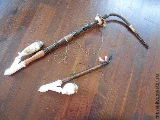 Винтажные сувениры. Ярмарка Мастеров - ручная работа. Купить Трубка курительная охотничья, егерская, антикварная, пара. Handmade. Комбинированный, бакелит
