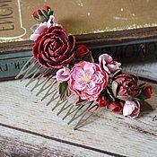 Украшения handmade. Livemaster - original item Comb Vintage flowers. Handmade.