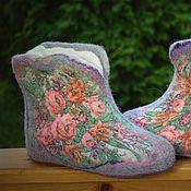 """Обувь ручной работы. Ярмарка Мастеров - ручная работа Чуни """"Вспоминая лето"""". Handmade."""