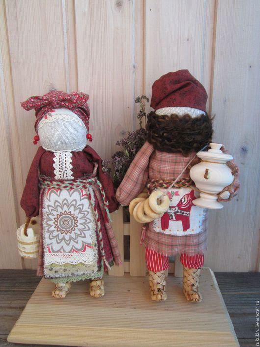 Народные куклы ручной работы. Ярмарка Мастеров - ручная работа. Купить Муж да Жена. Handmade. Комбинированный, лапти, народная традиция