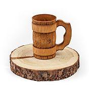 Посуда handmade. Livemaster - original item Mug tree. Wooden beer mug 0.5 l. Handmade.