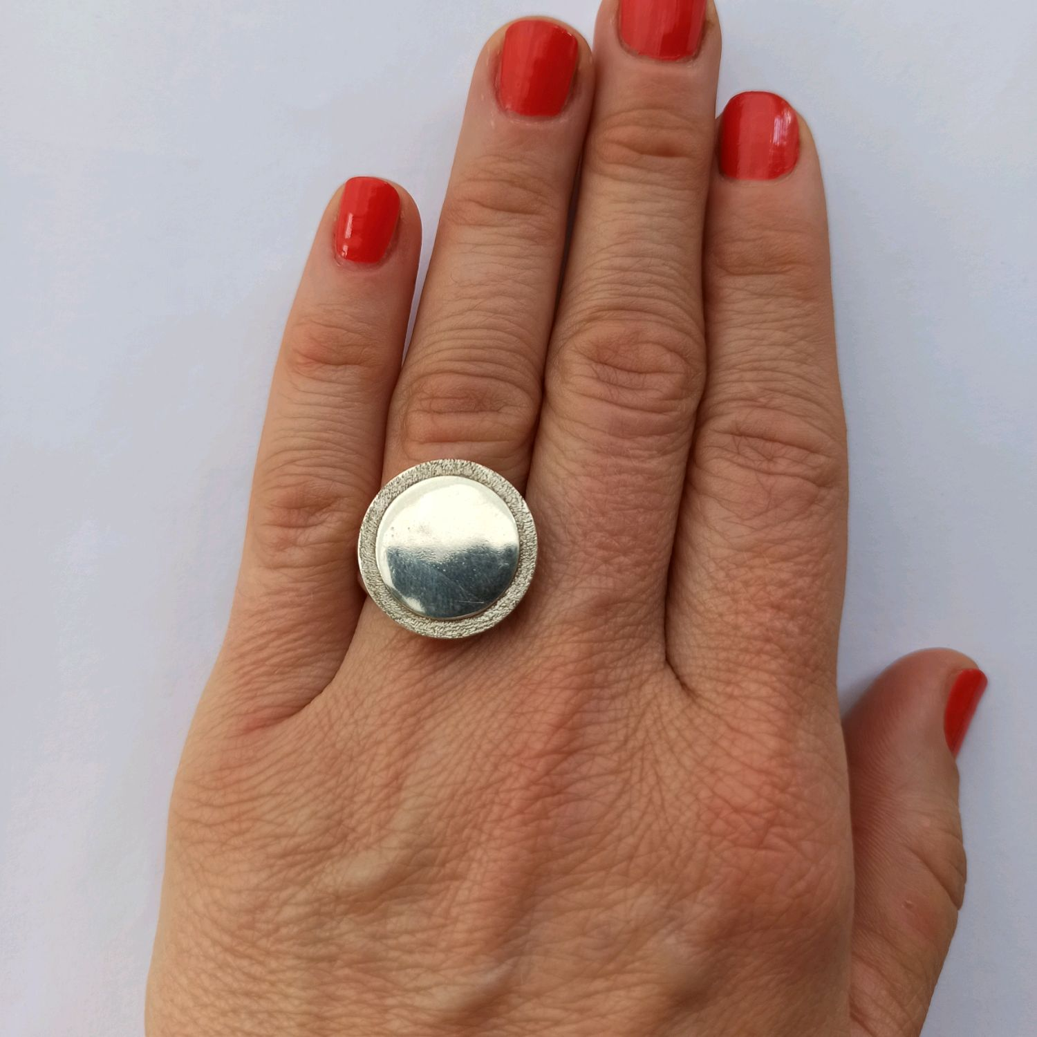 Mirror ring 925 sterling Silver, Rings, Turin,  Фото №1