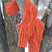 """Аксессуары ручной работы. Ярмарка Мастеров - ручная работа Гетры вязаные """"Апельсины на снегу"""". Handmade."""