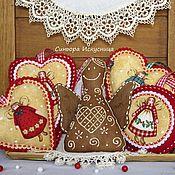 Подарки к праздникам handmade. Livemaster - original item Set 3pcs Gingerbread Fairy out of felt and fabric. Handmade.
