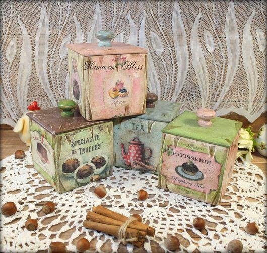 """Кухня ручной работы. Ярмарка Мастеров - ручная работа. Купить Короба для хранения """" Сладкая жизнь"""". Handmade. Комбинированный"""
