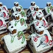 Сувениры и подарки ручной работы. Ярмарка Мастеров - ручная работа Мини - Пряничный домик со снегирем. Handmade.