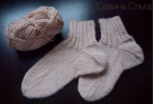 Носки, Чулки ручной работы. Ярмарка Мастеров - ручная работа. Купить Тонкие шерстяные носки ( шерсть 100% ) Стопа 23,5-24 см.. Handmade.