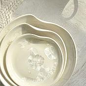 Посуда ручной работы. Ярмарка Мастеров - ручная работа Фарфоровые тарелки с кристаллической глазурью. Handmade.