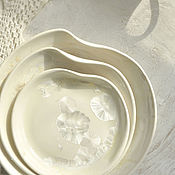 Посуда handmade. Livemaster - original item Porcelain plates with crystal glaze. Handmade.